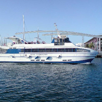 Rent a ferry and enjoy an incredible ride on this large capacity ferry.