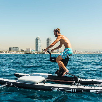 Enjoy with our Water Bike and ride along the coast in this original water activity.